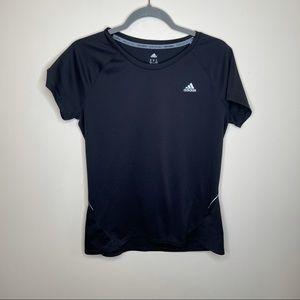 Adidas Black Short Sleeve Gym Workout Shirt